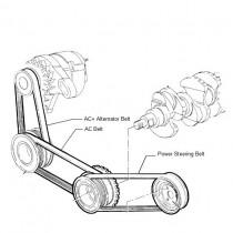 PolyV Belts Kit  1.1  Palio Stile