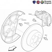 Caliper & Brake Disc| Rear| T-Jet| Linea