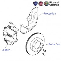 Fiat Palio: Brake Disk Rotor & Calipers