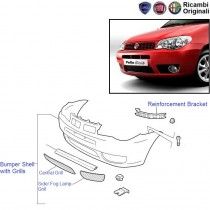 Fiat Palio Stile: Front Bumper Shell with Grills