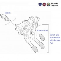 FIAT Linea 1.3 MJD: Brake & Clutch Pedals