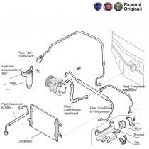 FIAT Palio Airconditioner hoses & condenser