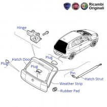 Fiat Grande Punto: Hatch Door, Struts and Weather Strip