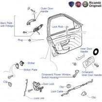Fiat Palio Stile: Front Left (Co-driver side) Door Lock & Handles