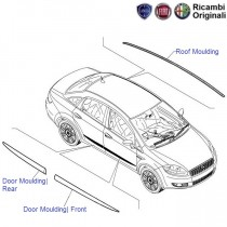 Fiat Linea: Door Chrome moulding  & Roof Rubber Strip