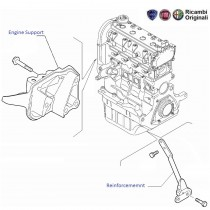 Engine Support/ Bracket| 1.2 FIRE| Punto