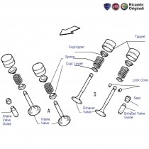 FIAT Palio 1.6 engine valves, seat, tappets, valve guides