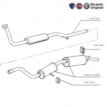 Exhaust Pipe  1.7D  Uno