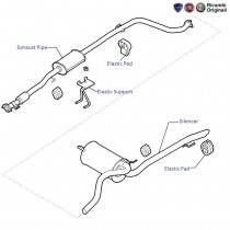 Exhaust Pipe  1.4 FIRE  Punto