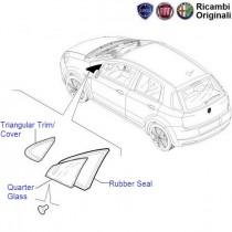 Fiat Punto: Front LH Quarter Glass
