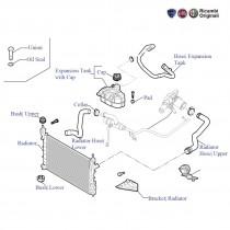 FIAT Grande Punto Radiator, coolant tank & Hoses