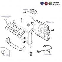 FIAT Palio 1.6 radiator Fan & Motor, Resistor ad Relay