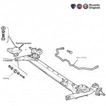 FIAT Petra siena rear dead axle, cross rail, anti roll bar