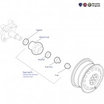 Fiat Grande Punto: Rear Wheel Hub and Wheel Bearing kit