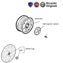 Wheel Cap, Logo, Bolt, Rim: FIAT Palio Stile 1.3 multijet diesel