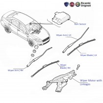 Fiat Linea: Wiper Motor and Linkage