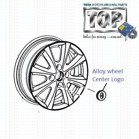 Centre Logo| Alloy wheel| Indigo eCS