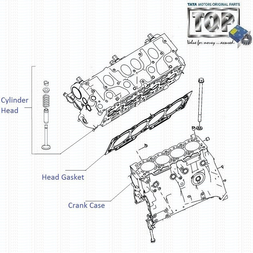 Tata Indigo Cs Ecs 1 4 Cr4 Cylinder Head And Crankcase