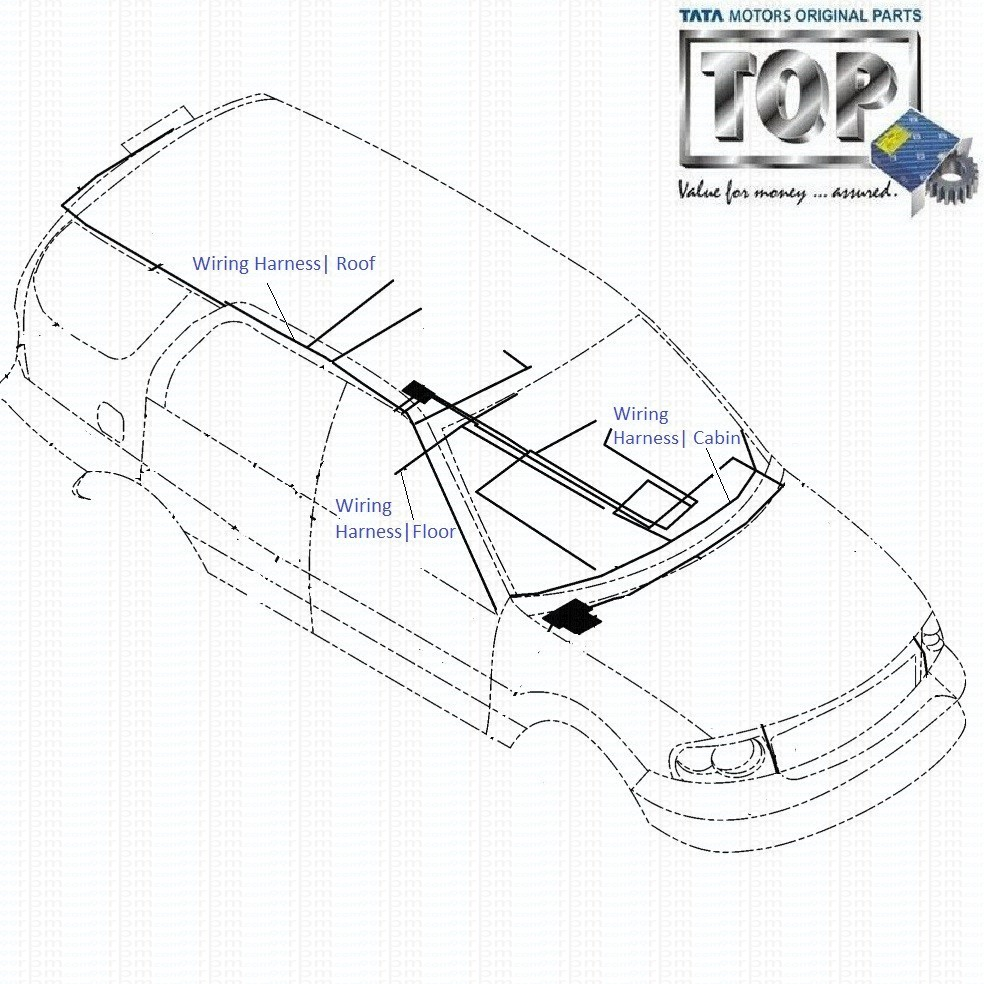 wiring_harness_cabin_3.0l_safari tata safari 3 0l dicor cabin, roof and floor wiring harness tata safari dicor wiring diagram at creativeand.co