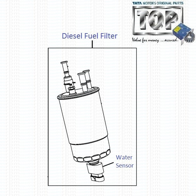 tata indica vista 1 3 quadrajet  diesel fuel filter with
