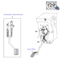 Accelerator Pedal| 1.4 Safire| Vista Sedan Class
