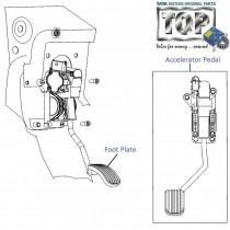 Accelerator Pedal| 1.3 QJet| Vista
