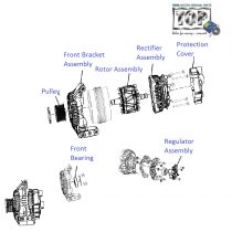 Alternator Components| 1.3 QJet 90PS| Vista D90