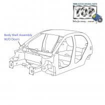 Body Shell| 1.3 QJet 90PS| Vista D90