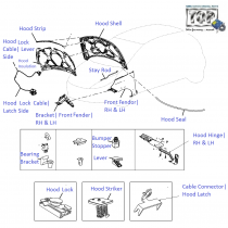 Bonnet and Lock| Vista D90