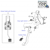 Brake Pedal| 1.4 Safire| Vista Sedan Class