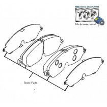 Brake Pads| Front| 2.2 DiCOR| Safari