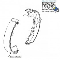 Brake Shoe Kit| Rear| Safari Storme