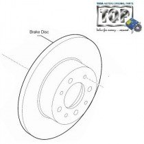 Brake Disc| Front| 3.0L DiCOR| Safari