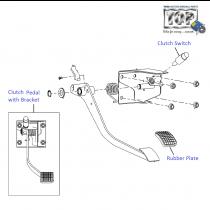 Clutch Pedal| 1.4 Safire| Vista Sedan Class