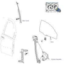 Door Glass & Regulator| Rear-Right| Indigo