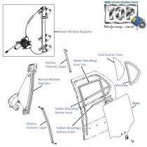 Door Glass| Rear-LH| Indica V1
