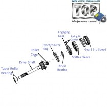 Drive Shaft & 3rd Speed Gear| 2.2 DiCOR| Safari(Pre-2008)| Safari (2008+)