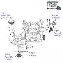Engine Mounting System| 1.3 QJet 90PS| Vista D90