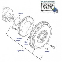 Flywheel  1.3 QJet 90PS  Vista D90
