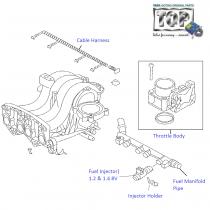 Fuel Injector System| 1.2 Safire| Vista Sedan Class