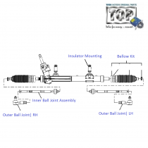 Rack and Pinion| Power Steering Box| 1.3 QJet 90PS| Vista D90