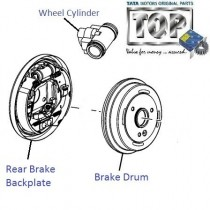 Rear Brake & Drum| 3.0L DICOR| Safari