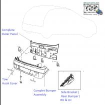 Rear Bumper  Vista D90