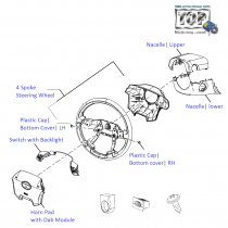 Steering Wheel Assembly| 1.3 QJet 90PS| Vista D90