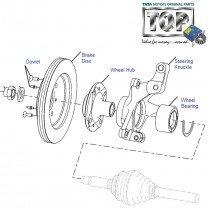 Wheel Hub & Steering Knuckle  Indigo