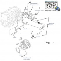 Water Pump & Thermostat| 1.3 QJet| Manza| Vista