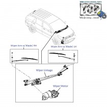 Wiper Motor & Linkage| Front| Aria