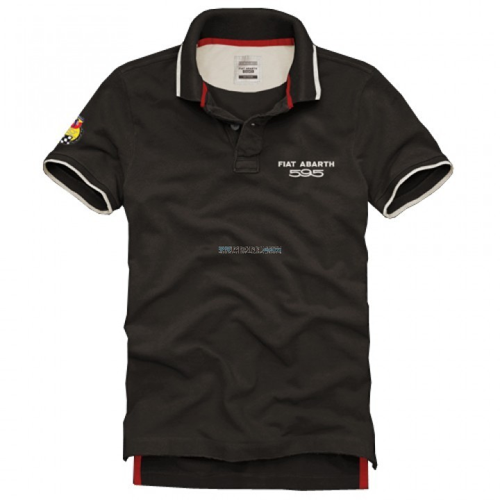 Fiat Abarth Polo T Shirt 595 Man In Brown Color