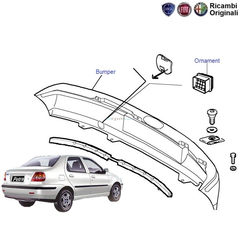 subaru rear bumper parts diagram