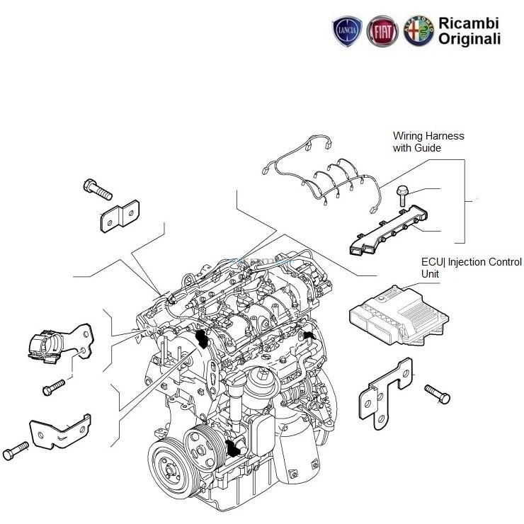 Fiat Grande Punto 1 3 Mjd Diesel  Engine Ecu  U0026 Wiring Harness